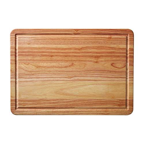 Farberware Wood Tabla de cortar con zanja, Madera, bambú