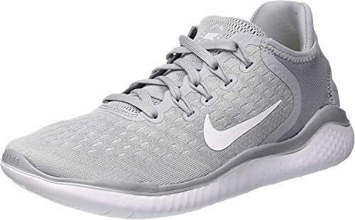 Nike Women's Free RN 2018 Running Shoe (7.5 M US, Wolf Grey/White/Volt)