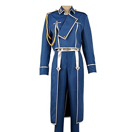 Qingge Anime Fullmetal Alchemist Cosplay Alchemist Brotherhood Disfraz De Cosplay Trajes Mujeres Adultas Hombres para Halloween Uniforme Militar, Guantes, Abrigos, Pantalones.