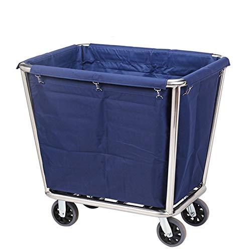 QLT Carro utilitario Ruedas clasificadoras de lavandería con Ruedas para el hogar, Cesto con Ruedas Comercial Tipo Cono para...