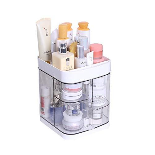 Boîte De Rangement Cosmétique Acrylique Multifonctionnelle, Compartiment De Type Tiroir, Boîte De Rangement De Poussière Pour Tablette Cosmétique, Coiffeuse