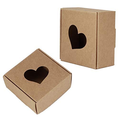 Caja de dulces Caja de embalaje plana y ecológica Caja de jabón firme Caja de papel Kraft reciclable resistente para regalos