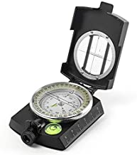 Eyeskey Tactical Survival Compass with Lanyard & Pouch   Waterproof & Impact Resistant   Lensatic Sighting Compass for Hiking (Black)