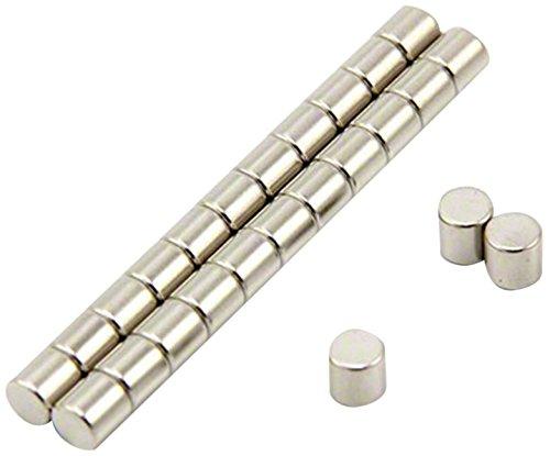 First4magnets F641-N35-50 Durchmesser x 5mm Dicker N35 Neodym-Magnet-0,76kg Anziehungskraft (50 St-Packung), Dia Thick, Stück