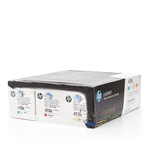 Original Toner kompatibel zu HP Color Laserjet Pro MFP M 477 fdw, 410X CF252XM, 3X Premium Drucker-Kartusche, Cyan, Magenta, Gelb, 3X 5000 Seiten