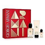Armani sí passione eau parfum 100ml+ leche corporal 75ml + eau parfum 15ml