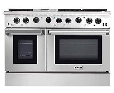Thor Kitchen 4801 48 Pro-Style Range, Natural Propane Gas Stainless Steel