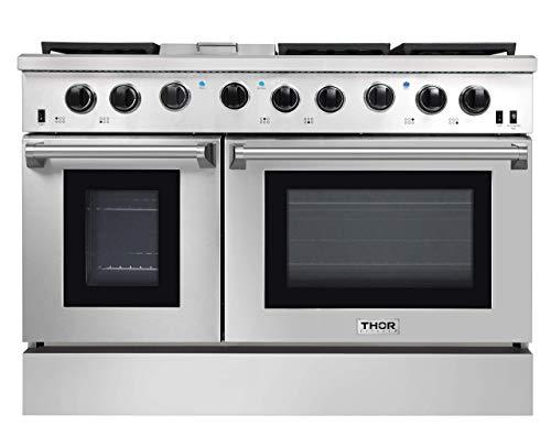 Thor Kitchen 4801 48 Pro-Style Range  Natural Propane Gas Stainless Steel