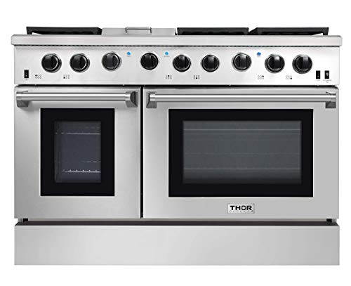 Thor Kitchen 4801 48 Pro-Style Range, Natural Propane Gas Stainless Steel