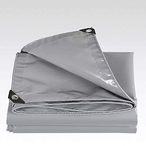 CZWYF Hochleistungsplanen-Mehrzweckpolyplanen-Abdeckungs-wasserdichter regensicherer Lichtschutz-Schutz-LKW-Schatten-Stoff mit Gummimuffen/Grau (Size : 4x5m)