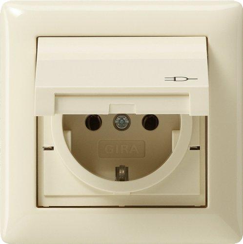 Gira Steckdose SCHUKO 115701 Rahmen 1fach IP44 Standard 55 cw, Weiß