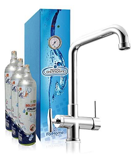 Depuratore Acqua Ad Osmosi Inversa Diretta ForHome Reverse Osmosis  Per Casa - 2 Vie Liscia E Gassata - 60 70 Lt Ora -