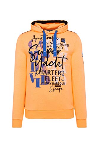 Camp David Herren Hoodie mit Watercolour Print und Stickereien