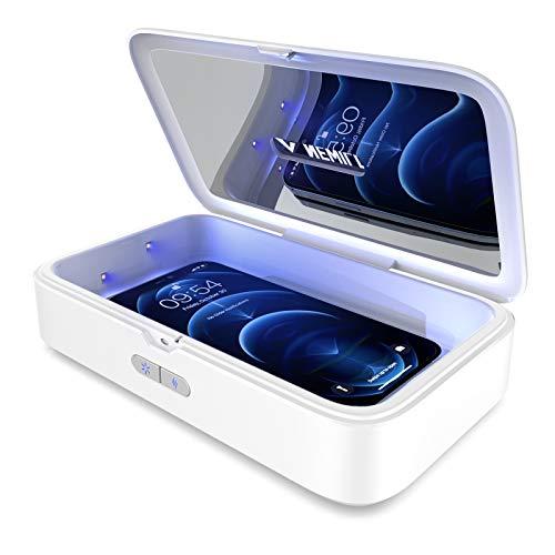UV Sterilisator, Newild kein Quecksilber UV, UVC-Licht-Reinigungsbox mit Aromatherapie-Funktion, Tragbarer Desinfektionsgerät für Handy, Zahnbürste, Schlüssel, Schmuck, Uhr
