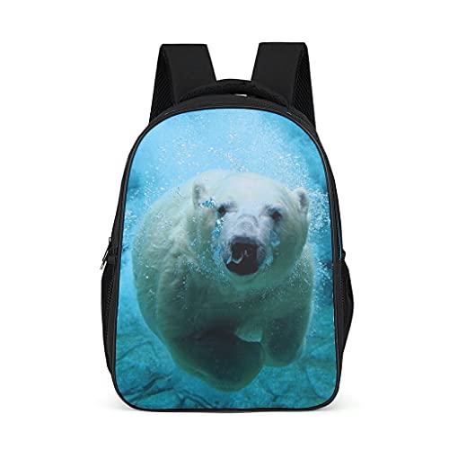 Polar Bear - Mochila ligera para niños, adolescentes, adultos, libros escolares, regalos para niños y niñas