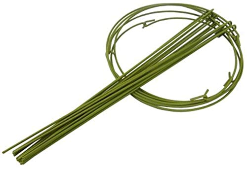 (Packung mit 10 Stützringen für Gartenpflanzen Stangen für Pflanzenstützen Starke Stangenpfähle für Metallpflanzen Blumenstützen DIY Garden Pot Climbing Trellis für Pfingstrosen Hortensien Rosen-