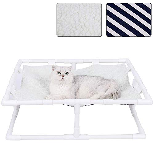 Luoji Hundebett Hochbett Für Haustiere Hundeliege Katzenbett Tragbares Doppelseitiges Erhöhtes Haustierbett Für Drinnen Draußen Sommer Und Winter