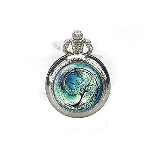 Árbol de la vida reloj de bolsillo collar árbol de la vida reloj colgante árbol de la vida joyería