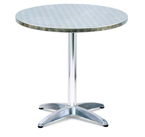 Table ronde ARCHIMEDE en 70 aluminium et acier cm x h. 70 bar Type