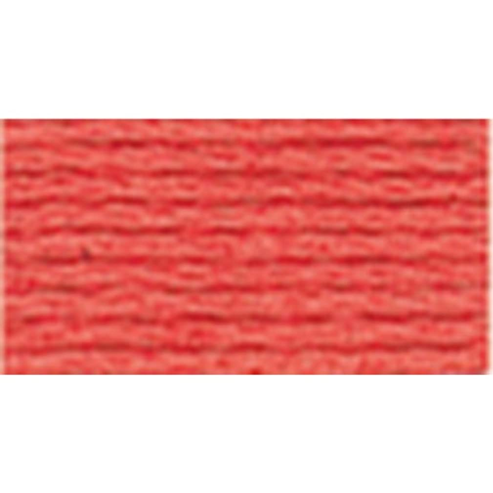 DMC 117-351 Mouline Stranded Cotton Six Strand Embroidery Floss Thread, Coral, 8.7-Yard
