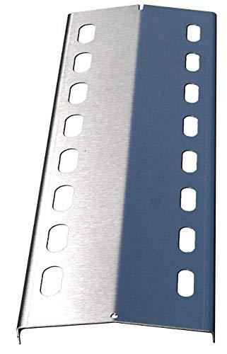 1 Stück 385mm x 125mm Edelstahl Flammenverteiler / Flammenabdeckung / Grillblech – super Ersatzteil für u.a. Activa, Campingaz, Grandhall, Landmann, Outdoorchef, Patton, Santos, (385-125-1)