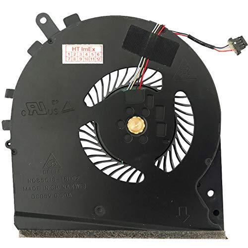 (CPU Version) Lüfter Kühler Fan Cooler kompatibel für HP Pavilion Gaming 15-dk0009ng, 15-dk0400ng, Pavilion Gaming 15-dk0204ng, 15-dk0760nd, 15-dk0010ng, 15-dk0620ng, 15-dk0004ng, 15-dk0205ng
