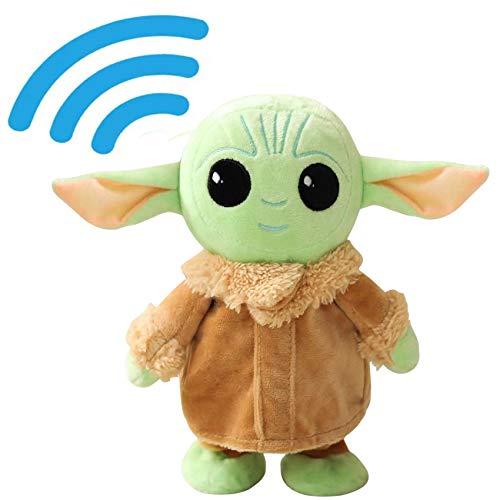 PAZATAO Talking Yoda 8.6 Inch Walking Baby and Yoda Repeats What You Say Plush Animal Toy Electronic Yoda for Boys Girls Stuffed Animal Baby Doll for Kids Gifts