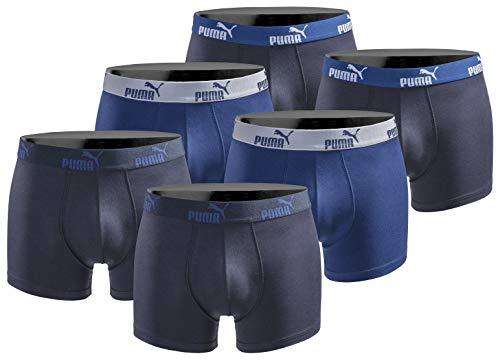 PUMA Boxershort 6er Pack Herren Basic Black Limited Edition - New True Blue - Gr. L
