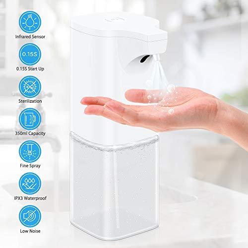 VEEAPE Dispensador Automático de desinfección pulverizador de Alcohol 350ml, Dispensador de jabón sin Contacto para cocinas, oficinas, escuelas, hospitales, hoteles etc