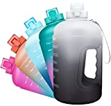 Venture Pal Motivational Water Bottle with Time Marker - Half Gallon/ 64 Oz Reusable Water Jug with...