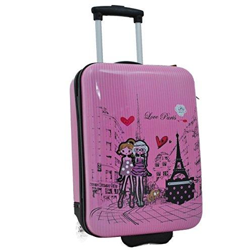 Madisson–Maleta de Cabina Rígida Kids 2ruedas 50cm, Rose (rosa) - F55018 LOVE PARIS