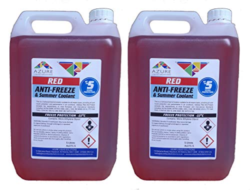 Odessa Red Antifreeze & Summer Coolant Concentrate For All Engine Types- 5L...