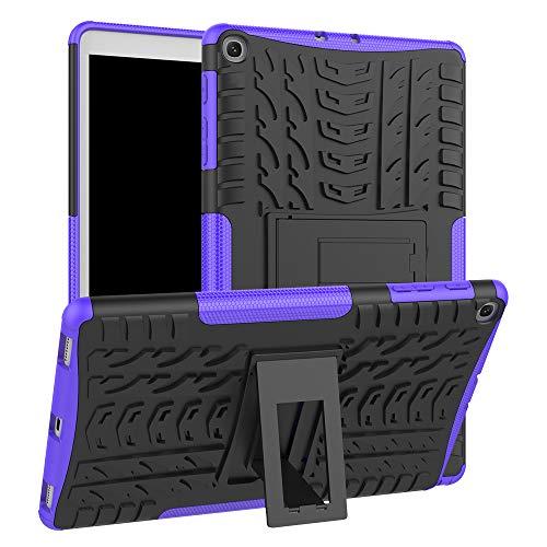 HoYiXi Funda para Samsung Galaxy Tab A 10.1 2019 Anti-Drop Estuche de Tableta Cubierta de Doble Protectora con Soporte Funcion Cover Case para Samsung Galaxy Tab A 10.1 (2019) T510 / T515 - Violeta