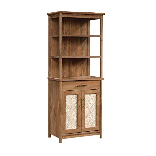 Sauder 424798 Coral Cape Library with Doors, Sindoori Mango Finish
