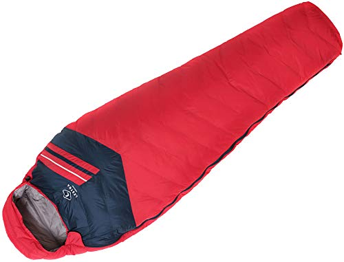 Lestra Aporia Light Schlafsack, Unisex Erwachsene, Rot, Größe 210