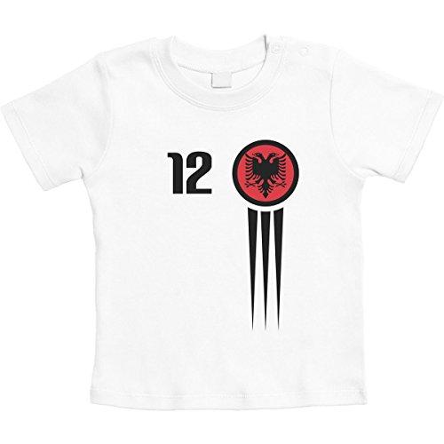 Voor de kleinste Albanese Shqiperi voetbalfans, uniseks, baby-T-shirt, maat 66-93