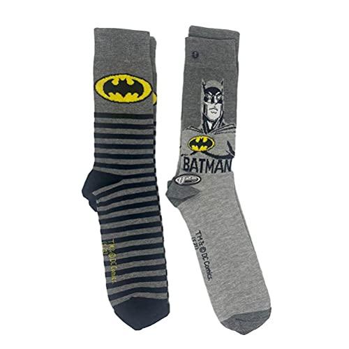 DC Comics Batman Grau Crew Socken (2 Paar)