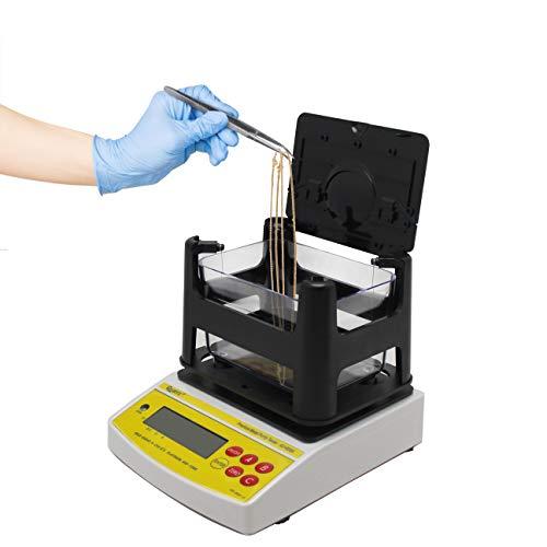 CGOLDENWALL 600 g, 0,01 g/cm3, probador de densidad de oro, probador de pureza, probador digital de contenido de metal con interfaz RS-232 para oro/platino/plata/estaño/cobre AU-600K