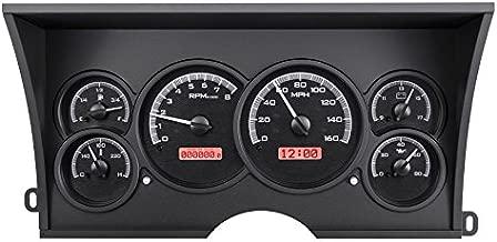 Dakota Digital 88 - 94 Chevy / GMC Pickup Truck Analog Dash Gauges Black Alloy Red VHX-88C-PU-K-R