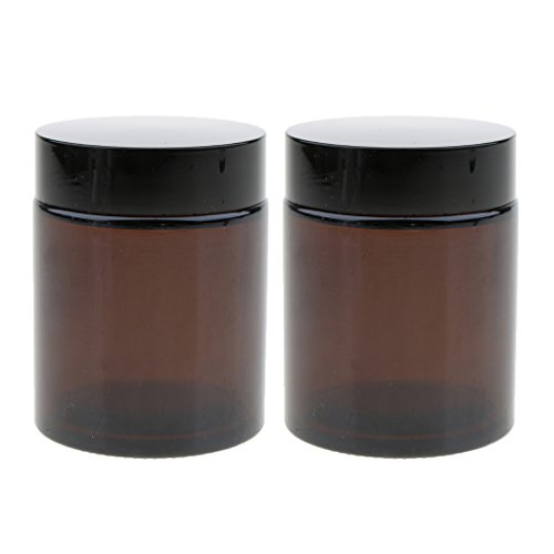5g B Blesiya 2x Pot Vide en Verre R/écipient Cosm/étique avec Couvercle pour /Échantillon de Cr/èmes Stockage de Maquillage