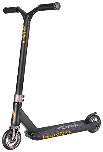Chilli Pro Scooter Izzy Earth | Schwarzer Pro-Scooter für Einsteiger & Profis | Robuster Roller, drehbarer Lenker ideal für Tricks geeignet | Leicht & schnell für maximales Fahrvergnügen