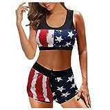 gfdrt Bikini con la bandera de los Estados Unidos, traje de baño para mujer, 4 de julio, patriótico, sexy, traje de baño G210621001 rojo S