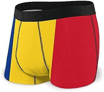 Web--ster Breathing Yoga Men 's Flag of Romania Ropa Interior Deportiva Algodón Stretch Boxer Brief