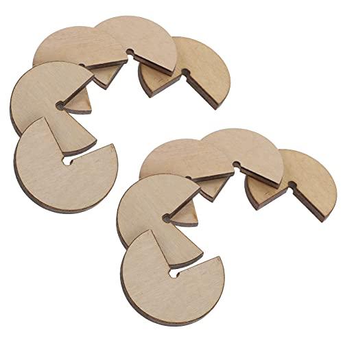 WINOMO 10 Piezas de Seal de Madera Posicionadores Portátiles de Jade Seal Localizadores Simple Herramienta de Posicionamiento