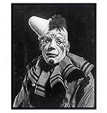 Sad Clown - Creepy Clown - Goth Room Decor - Scary Clown - Gothic Wall Art - Goth Wall Decor - Gothic Decorations - Satanic Clown - 8x10 Horror Movie Poster