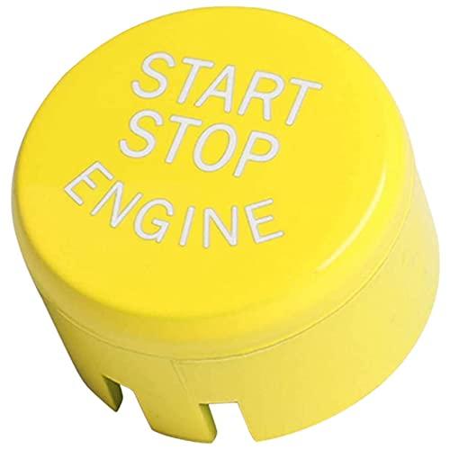 CHENGQIAN Botón Un Botón De Arranque, Interruptor De Encendido del Motor, Botón Pulsador, Cubierta Adhesiva, para BMW X1 X3 X4 X5 X6 1 3 4 Series-F/G Chasis con Parada Automática