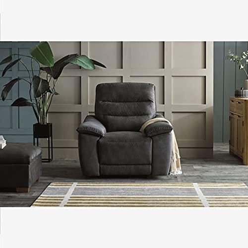Oak Furniture Land Carter Electric Recliner Armchair in Grey fabric