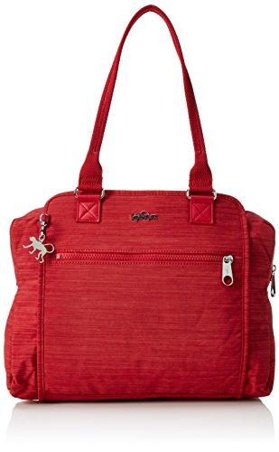 Kipling FAYE FEVER Damen Henkeltaschen 36x29.5x14.5 cm (B x H x T), Rot (33U Dazz Red)