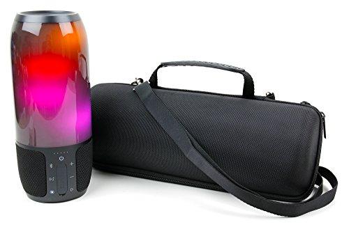 DURAGADGET Coque Noire pour JBL Pulse 3 / Pulse 4 Enceinte Haut Parleur sans Fil - Etui Rigide sur Mesure avec poignée et bandoulière Amovible