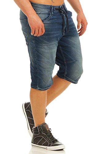 JACK & JONES Herren JJIDASH JJLONG GE 781 I.K. STS Shorts, Blau (Blue Denim Blue Denim), 48(Herstellergröße: S)